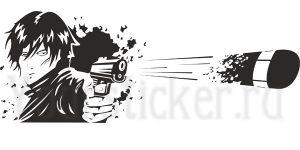 вектор выстрел из пистолета