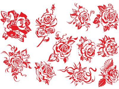 Роза в векторе