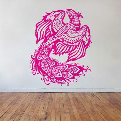 Жар птица наклейка на стене