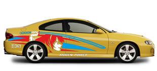 Самурай на бок авто наклейка