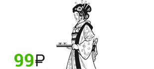 Наклейка японка