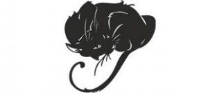 Наклейка черный кот №8