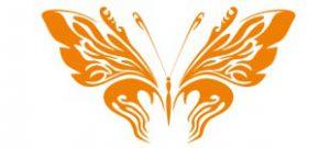 Декоративная наклейка бабочка №1