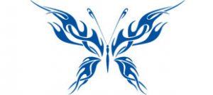Декоративная наклейка бабочка №10