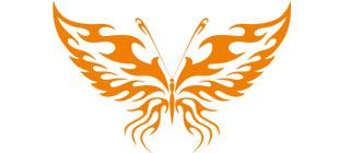 Декоративная наклейка бабочка №11