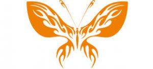 Декоративная наклейка бабочка №13
