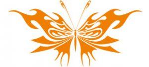 Декоративная наклейка бабочка №14