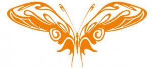 Декоративная наклейка бабочка №15