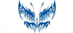 Декоративная наклейка бабочка №16