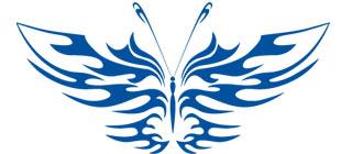 Декоративная наклейка бабочка №17