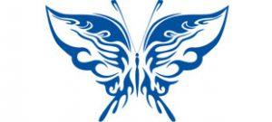 Декоративная наклейка бабочка №19