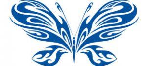 Декоративная наклейка бабочка №20