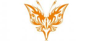 Декоративная наклейка бабочка №21