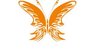 Декоративная наклейка бабочка №22