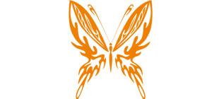 Декоративная наклейка бабочка №23
