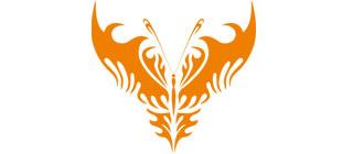 Декоративная наклейка бабочка №24