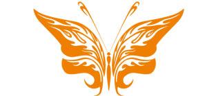 Декоративная наклейка бабочка №25