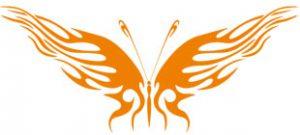 Декоративная наклейка бабочка №3