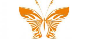 Декоративная наклейка бабочка №4