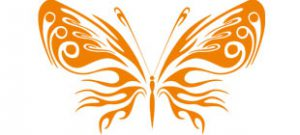 Декоративная наклейка бабочка №5