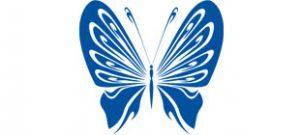 Декоративная наклейка бабочка №6
