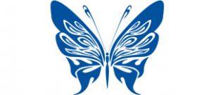 Декоративная наклейка бабочка №7