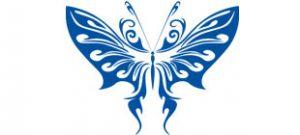 Декоративная наклейка бабочка №8