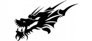 Наклейка Дракон №1