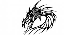 Наклейка Дракон №10