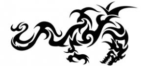 Наклейка Дракон №11