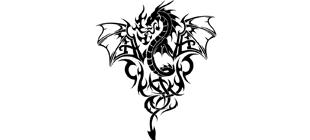 Наклейка Дракон №7