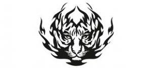 Наклейка Тигр №2