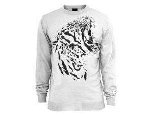 Тигр на одежде