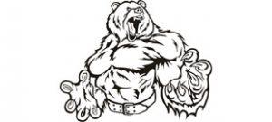 Грозный медведь вектор