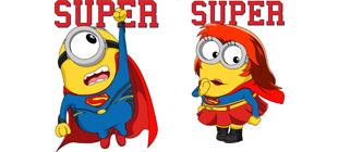 Миньоны супергерои в векторе