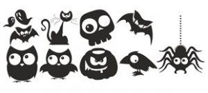 Наклейки на Хэллоуин вектор