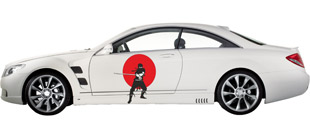 Японский Ниндзя на авто