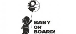 baby on board наклейка вектор