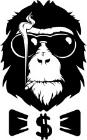 наклейка обезьяна вектор