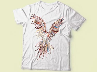 Принт орел на футболке