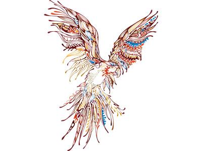 орел из узоров в векторе