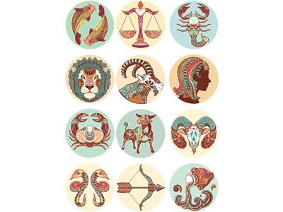 12 знаков зодиака в векторе