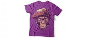Принт обезьяна в очках