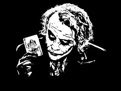 Наклейка Джокер на черном