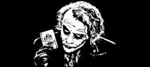 Наклейка Джокер в векторе
