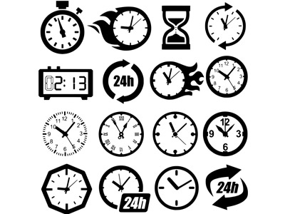 Циферблат часов в векторе