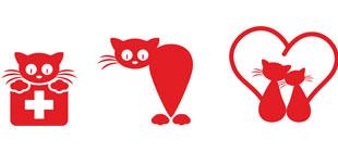 Декоративные наклейки Коты в векторе