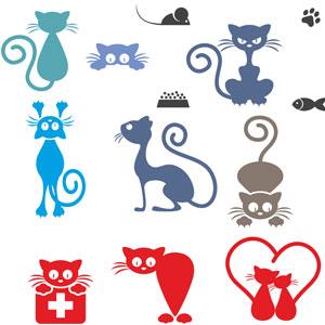 коты в векторе