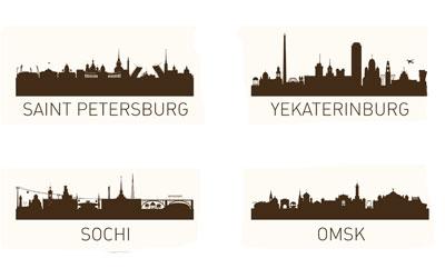 Силуэты городов России