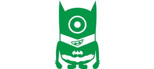 Миньон бэтмен в векторе